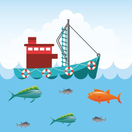 charter: fishing tournament design, vector illustration eps10 graphic