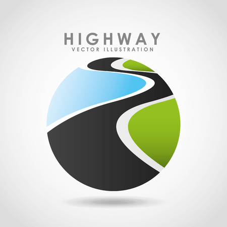 고속도로: highway road  design, vector illustration eps10 graphic