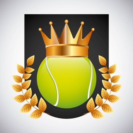 tenis: tennis emblem design, vector illustration eps10 graphic
