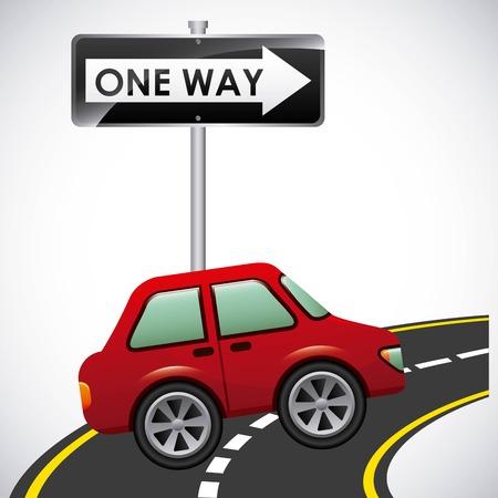고속도로: 도로 고속도로 디자인, 벡터 일러스트 레이 션 EPS10 그래픽