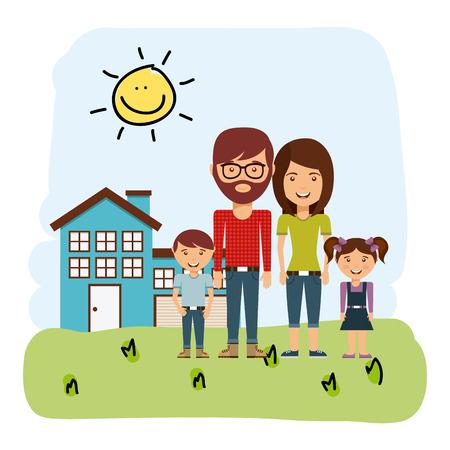 happy couple house: happy family design, vector illustration eps10 graphic