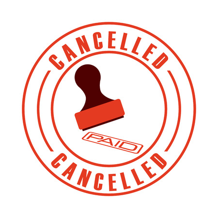 cancelled: cancelled seal design, vector illustration eps10 graphic