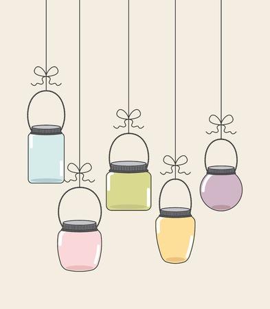 canning: glass bottle design, vector illustration eps10 graphic
