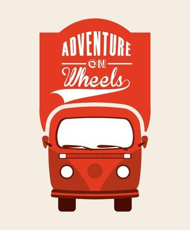 adventure on wheels design, vector illustration eps10 graphic Vector