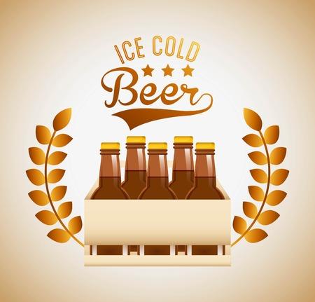 pack ice: cold beer design, vector illustration eps10 graphic Illustration