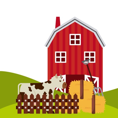 mamal: farm concept design, vector illustration eps10 graphic Illustration