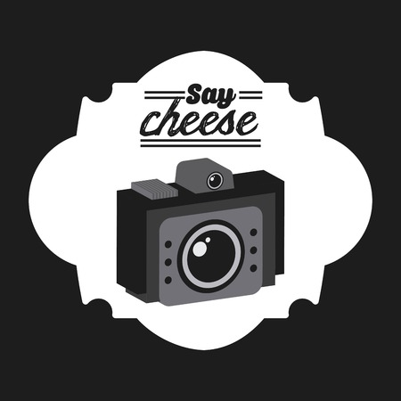 say cheese: photographic icon design, vector illustration eps10 graphic