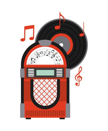 music machine: music old design, vector illustration eps10 graphic