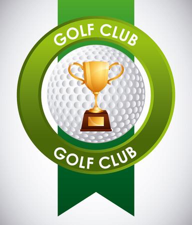 award trophy: golf club emblem design, vector illustration eps10 graphic Illustration
