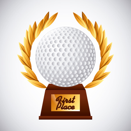 gold leafs: golf club emblem design, vector illustration eps10 graphic Illustration