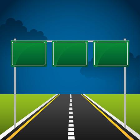 road signal: highway road  design, vector illustration eps10 graphic