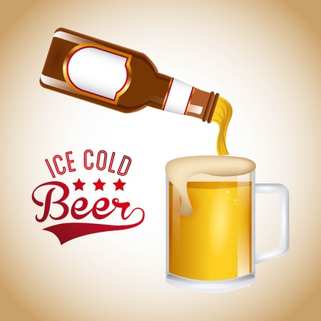 cold beer design, vector illustration eps10 graphic Vector