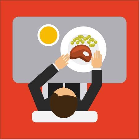 eating food: eating man design, vector illustration eps10 graphic