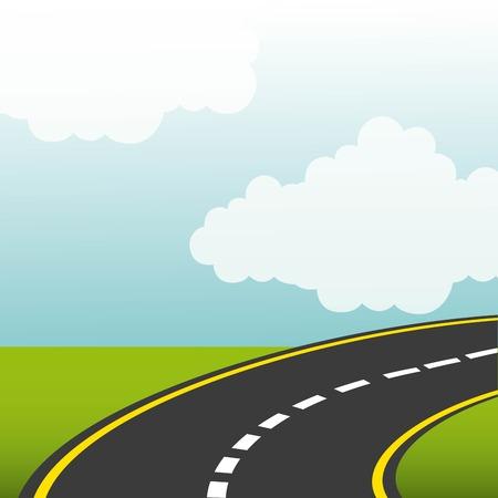 고속도로: road highway design, vector illustration eps10 graphic 일러스트