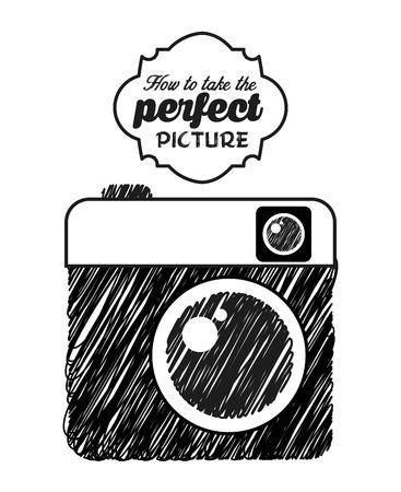 diseño icono fotográfico, ilustración vectorial gráfico eps10