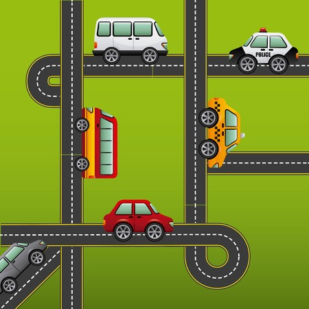 high way: road highway design, vector illustration eps10 graphic Illustration
