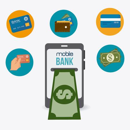 million dollars: Money design over white background, vector illustration.