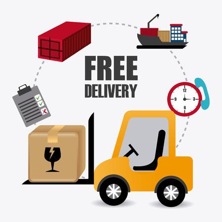 drivers: Delivery design over white background, vector illustration.