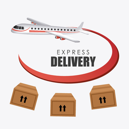 aircraft carrier: Delivery design over white background, vector illustration.