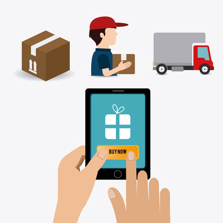 drivers: Delivery design over white background, vector illustration.