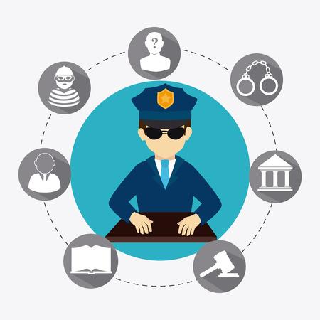 Law design over white background, vector illustration. Illustration