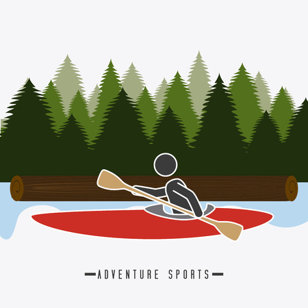 surf team: Extreme sport design over landscape background, vector illustration.