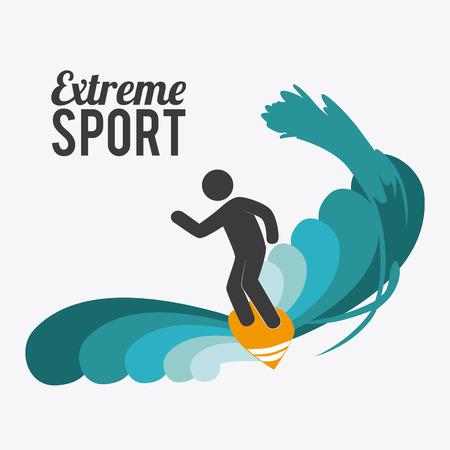surf team: Extreme sport design over white background, vector illustration.