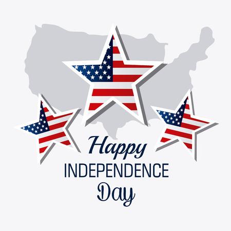 Independence day design over white background, vector illustration.