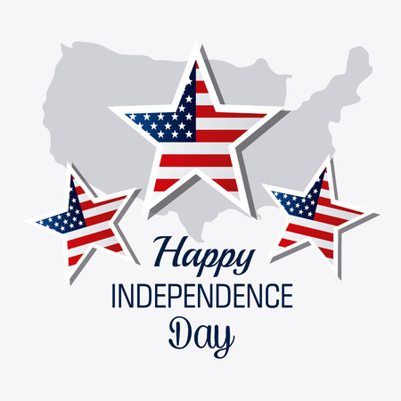independence day: Independence day design over white background, vector illustration.