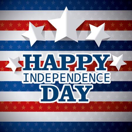 Independence day design over colorful background, vector illustration.
