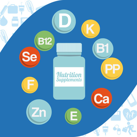 vitamins: vitamins and suplements design, vector illustration  graphic Illustration