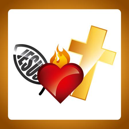 catholic religion design, vector illustration  graphic Vector