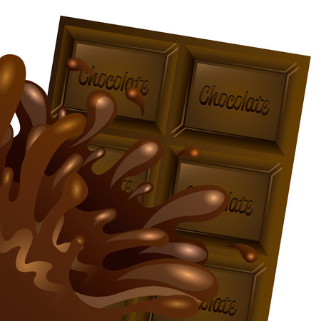 dark chocolate: delicious chocolate design, vector illustration  graphic