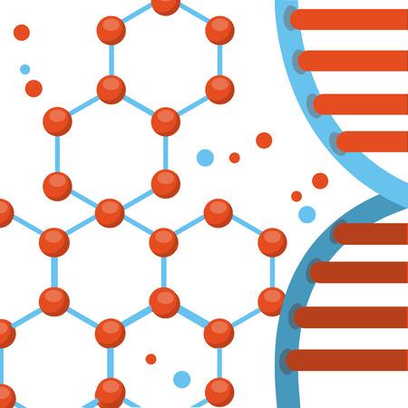 adn: concepto de diseño de laboratorio, ilustración vectorial gráfico eps10