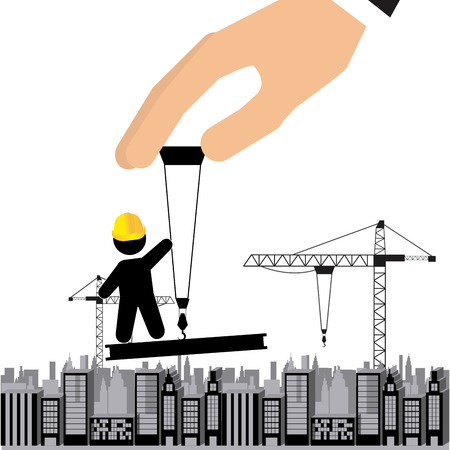 under construction icon: under construction design, vector illustration graphic