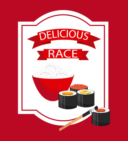 traditionally: delicious sushi design, vector illustration eps10 graphic