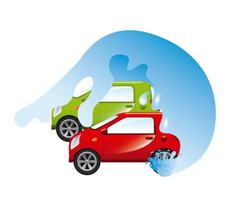 car wash: car wash design, vector illustration graphic Illustration