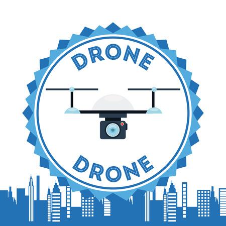drone technologie ontwerp, vector illustratie grafische