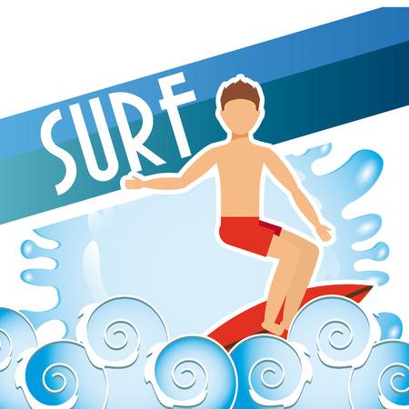 surf sport design, vector illustration eps10 graphic Vector