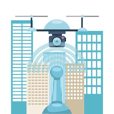 antena: drone technology design, vector illustration graphic