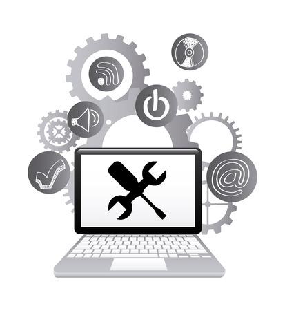 technical support design, vector illustration graphic Illustration