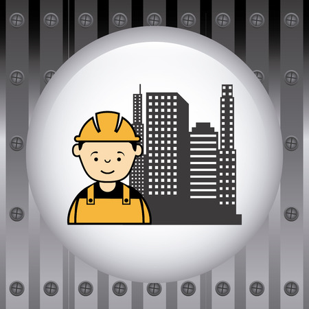 Industrial workers: under construction design, vector illustration graphic