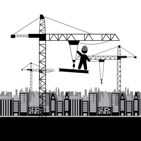 building site: under construction design, vector illustration graphic