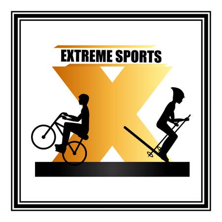 extreme sport: extreme sport design, vector illustration graphic Illustration