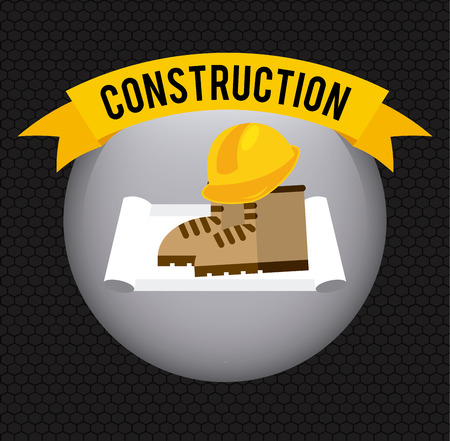 in the reconstruction: under construction design, vector illustration graphic