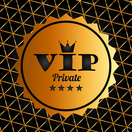 private club: vip membership design, vector illustration graphic