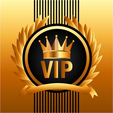 vip symbol: vip membership design, vector illustration graphic