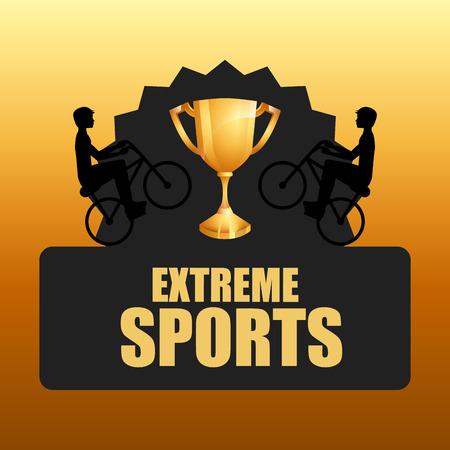 x sport: extreme sport design, vector illustration graphic Illustration