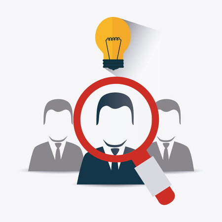 executive search: Business design over white background, vector illustration.