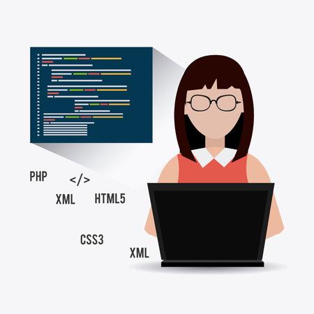 css3: Software design over white background, vector illustration. Illustration